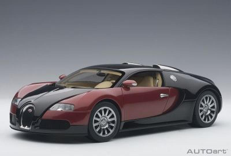 Bugatti EB 16.4 Veyron 2009 (Red/Black) by auto-art