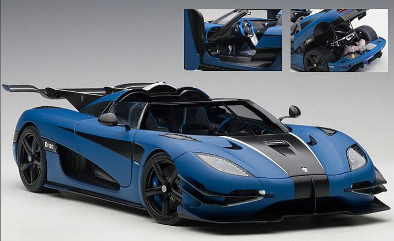 Koenigsegg One:1 2014 (Matt Imperial Blue) by auto-art
