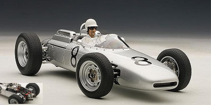 Porsche 804 F1 #8 GP Germany 1962  Jo Bonnier (with driver) by auto-art