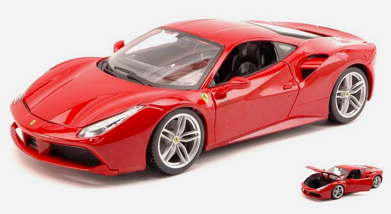 Ferrari 488 GTB 2015 (Red) by bburago