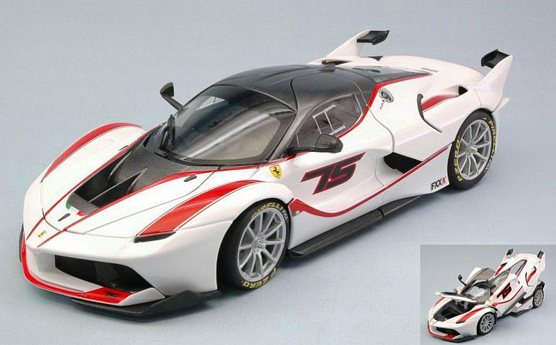 Ferrari FXX-K #75 (White) Signature Edition by bburago