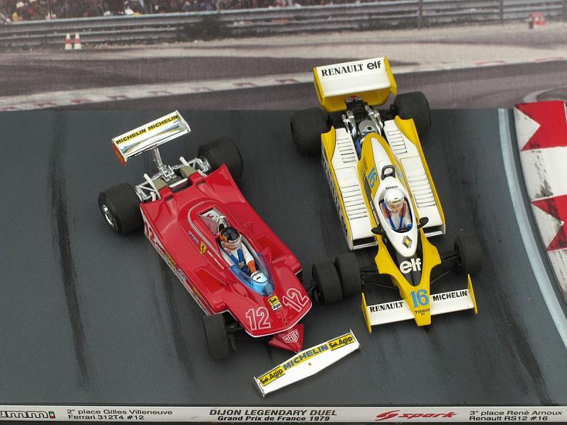 Villeneuve 1979 #12 Test USA Ovest GP w// Driver 1:43 BRUMM Ferrari 312 T4 G