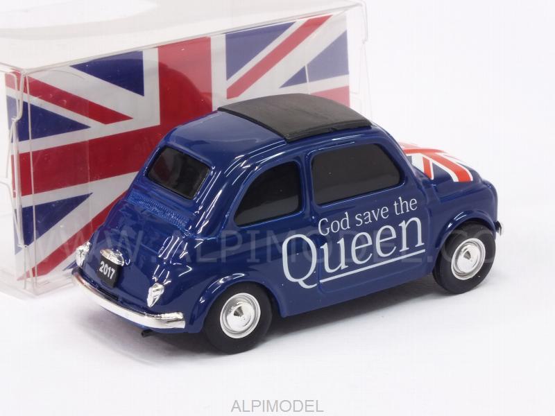 brumm br055 fiat 500 brums united kingdom 39 mind the gap god save the queen 39 1 43. Black Bedroom Furniture Sets. Home Design Ideas