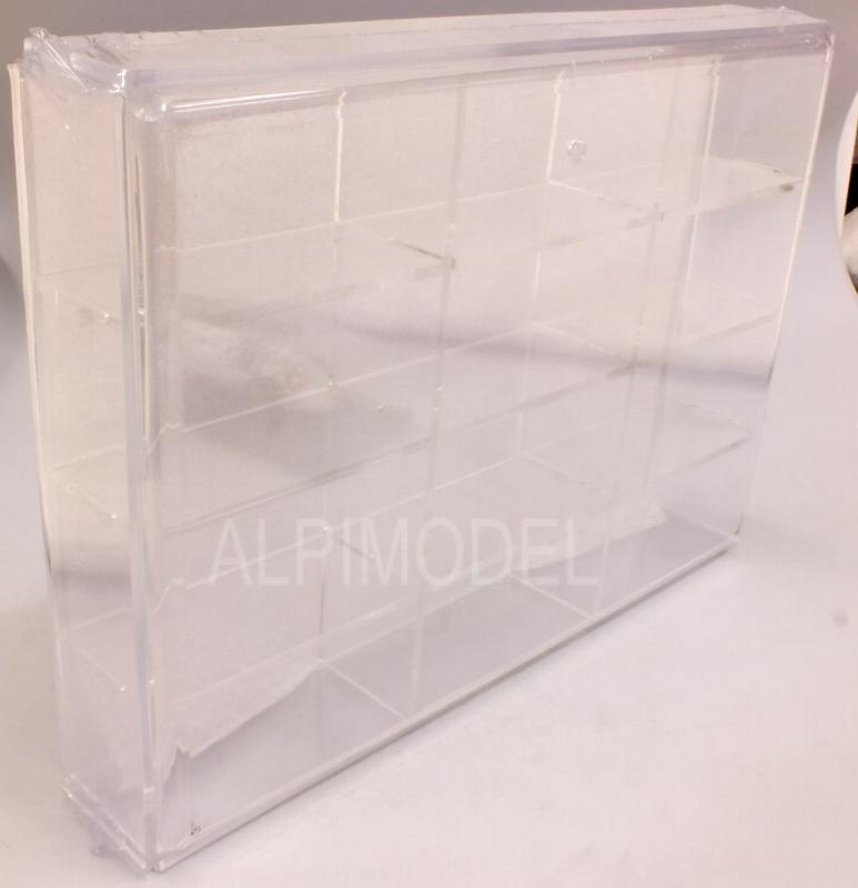 Display Case (Plexiglass) for 12x Fiat 500 models (models not included/modelli non inclusi) by brumm