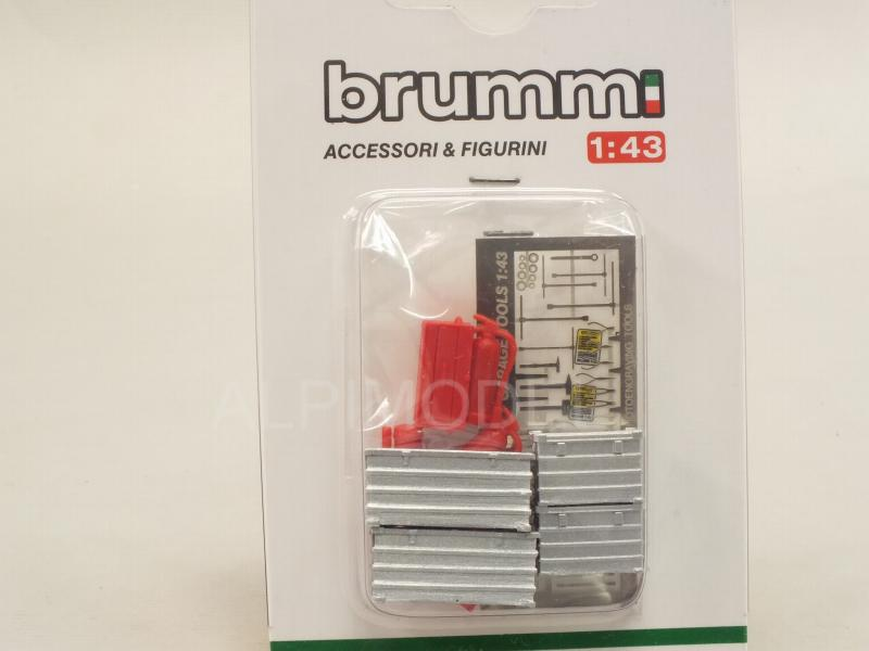 Accessory Set/Set Accessori (Fire Estinguishers/Tool Box/Red Tool Box/Photoedged Tools) - brumm