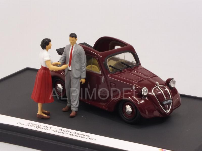 Fiat 500A Topolino ROMAN HOLIDAY - VACANZE ROMANE 1953 Audrey Hepburn-Gregory Peck (Limited Edition) - brumm