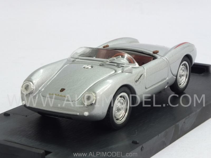 Brumm Porsche 550a Rs Spyder Street 1954 Silver Update Model 1 43 Scale Model
