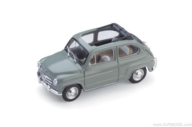 Fiat 600D Trasformabile open 1960 (green) by brumm