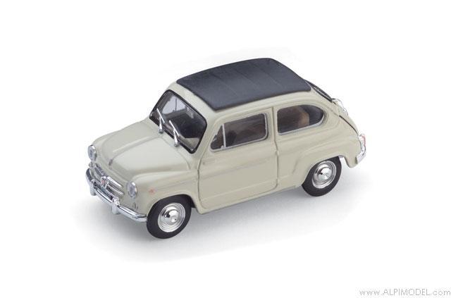 Fiat 600D Trasformabile closed 1960 (Ivory) by brumm