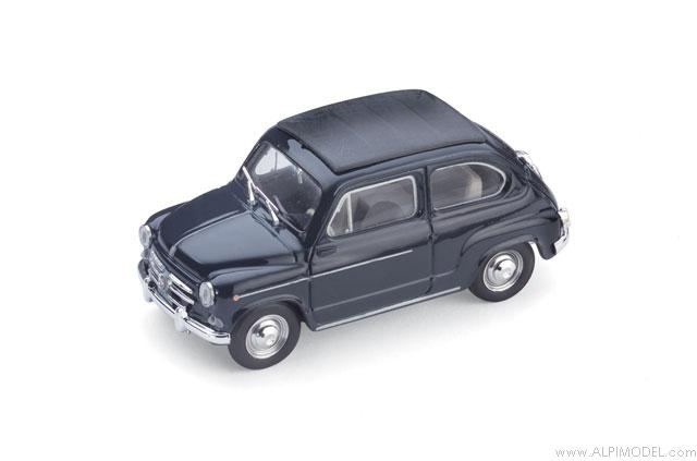 Fiat 600D Trasformabile closed 1960 (dark blue) by brumm