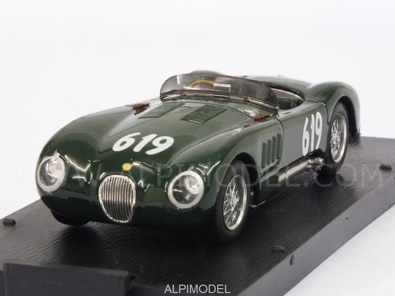 Jaguar C Type #619 (XKC 003 ex Winner LM 1951) Mille Miglia 1952 Stirling Moss by brumm