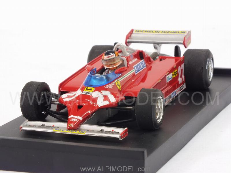 Ferrari 126 CK Turbo #27 Winner GP Monaco 1981 Gilles Villeneuve (with driver/con pilota) by brumm
