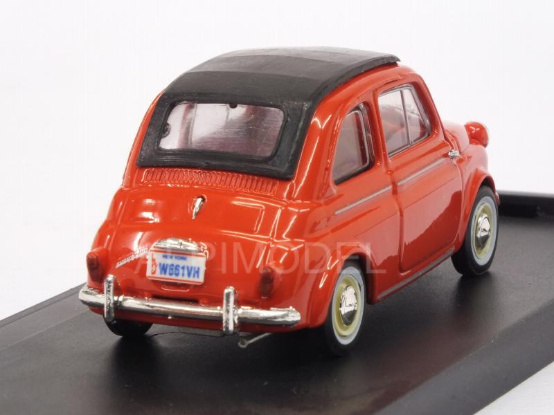 Fiat Nuova 500 America closed 1958 (Red) - brumm