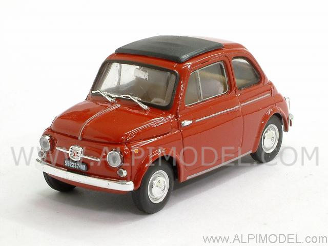 Fiat Nuova 500D Chiusa 1960 (Rosso) by brumm