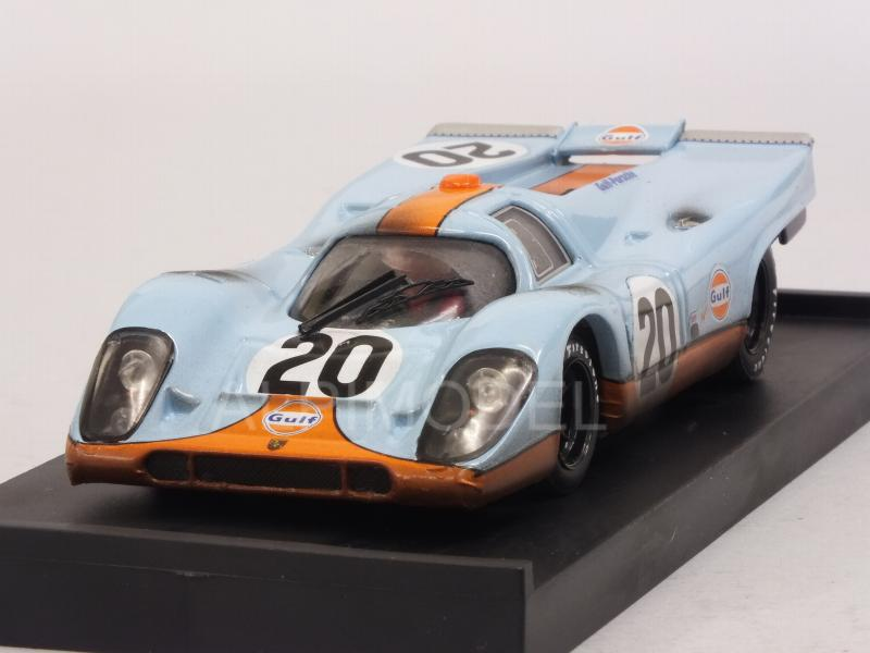 Porsche 917K JWA Gulf #20 Le Mans 1970 Siffert - Redman (with driver/con pilota) dirty version by brumm