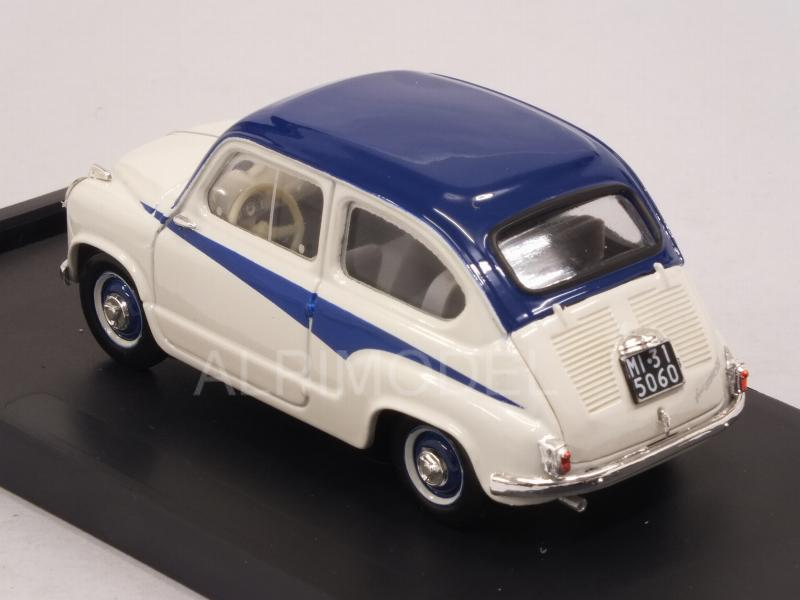 Fiat 600 1a Serie Derivazione Abarth 750 1956 (Light Grey/Blue) - brumm