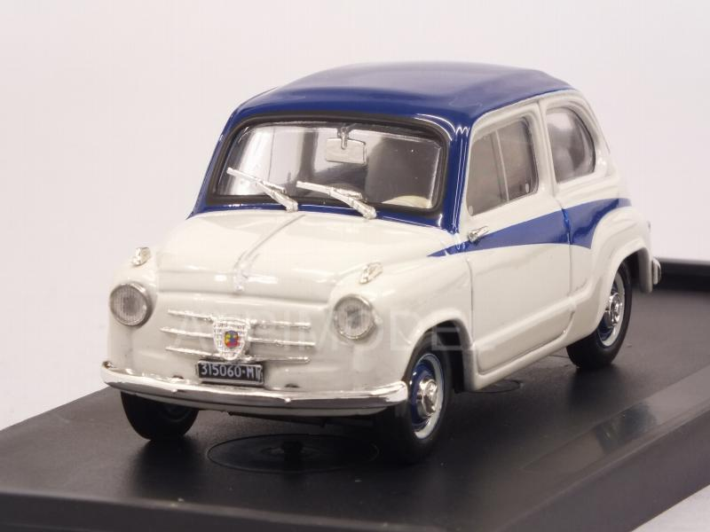 Fiat 600 1a Serie Derivazione Abarth 750 1956 (Light Grey/Blue) by brumm