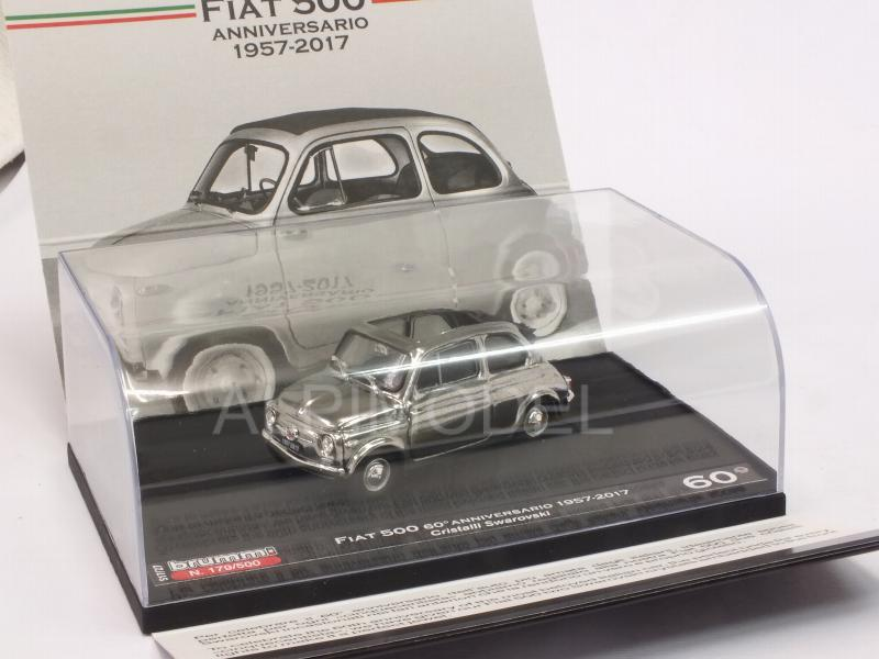 Fiat 500 60th Anniversary 1957-2017 SWAROVSKI Crystals Headlights - Special Limited Edition 500pcs. - brumm