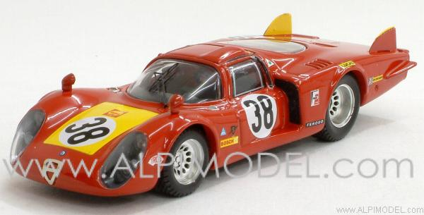 Alfa Romeo 33.2 Coda Lunga #38 Le Mans 1968 Facetti - Dini by best-model