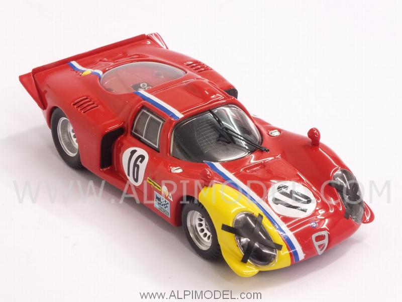 Alfa Romeo 33.2 Coupe #16 Spa 1968 Gosselin - Trosch - best-model
