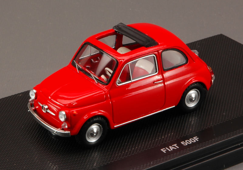 Fiat 500 F Open Soft Top 1965 (Red) by ebbro