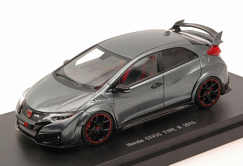 EBBRO 45356 1:43 Honda Civic Type R 2015 P Metal Metallic UK License Plate