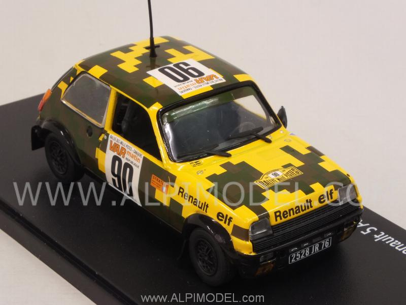 Renault 5 Alpine Equpage Militaire #90 Rally Des Milles Pistes 1978 Siguet - Galy - eligor
