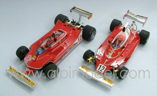 EXOTO GPC97SC1 Set Ferrari 312T Niki Lauda & Ferrari 312T4