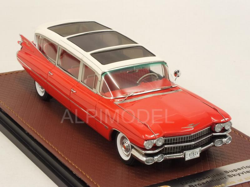 Cadillac Superior Broadmoor Skyview 1959 (White/Red) - glm-models
