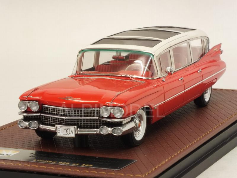 Cadillac Superior Broadmoor Skyview 1959 (White/Red) by glm-models
