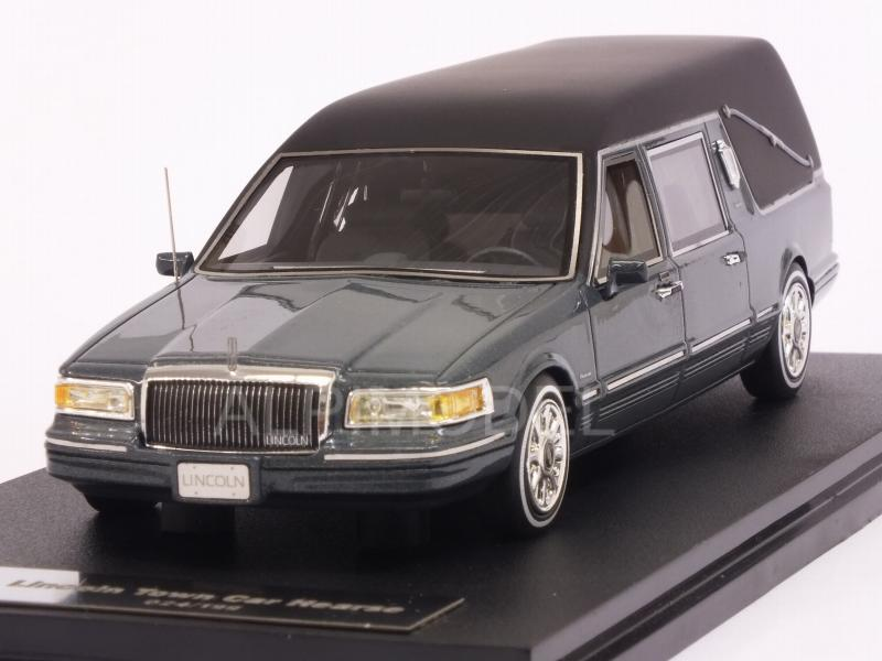 Glm Models Glm43102701 Lincoln Town Car Hearse 1997 Grey Metallic 1 43