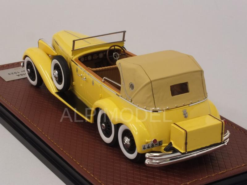 Hispano Suiza H6A Victoria Town Car 1923 six-wheels (Yellow) - glm-models