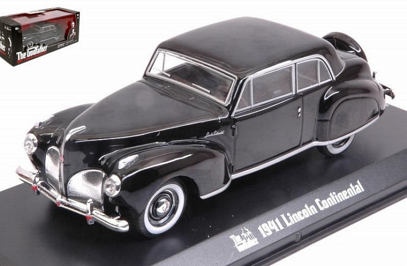 """1941 LINCOLN CONTINENTAL BLACK /""""THE GODFATHER/"""" MOVIE 1972 1//43 GREENLIGHT 86507"""