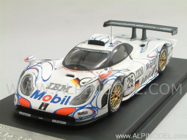 hpi racing porsche 911 gt1 26 winner le mans 1998 aiello mcnish ortelli 1 43 scale model. Black Bedroom Furniture Sets. Home Design Ideas