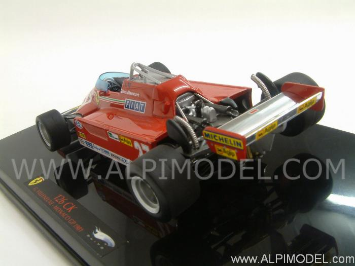 Ferrari 126 CK GP Monaco 1981 Gilles Villeneuve - hot-wheels