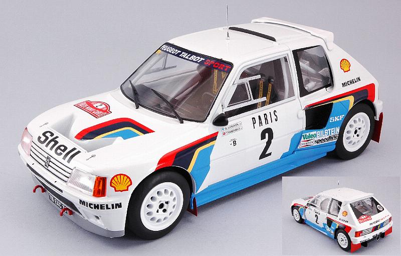 Peugeot 205 T16 #2 Winner Rally Monte Carlo 1985 Vatanen - Harryman by ixo-models