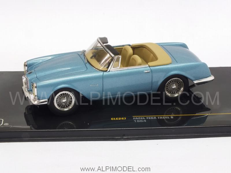 Facel Vega Facel 6 1964 (Metallic Light Blue) - ixo-models