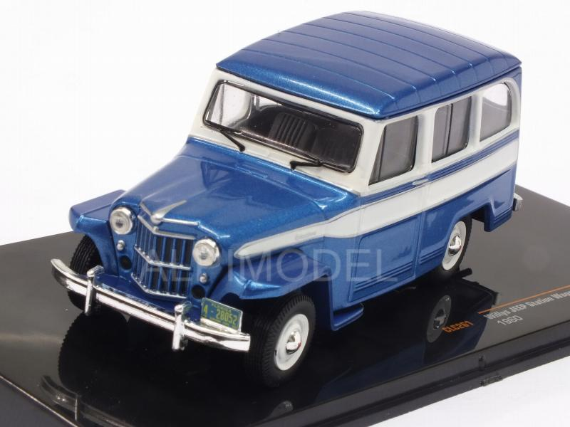 Jeep Willys Station Wagon 1960 (Metallic Blue) by ixo-models