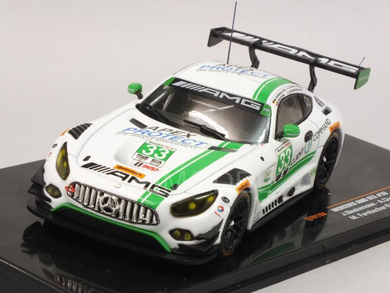 Mercedes AMG GT3 #33 24h Daytona 2017 Bleekemolen - Christoudolou - Farnbacher - Keating by ixo-models