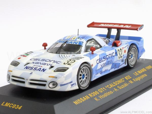 ixo models lmc034 nissan r390 gt1 calsonic 32 le mans 1998 hoshino suzuki kageyama 1 43. Black Bedroom Furniture Sets. Home Design Ideas