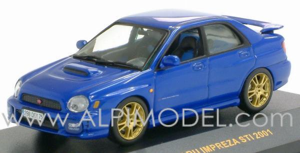Ixo Models Subaru Impreza Wrx Sti 2001 Matt Blue 1 43