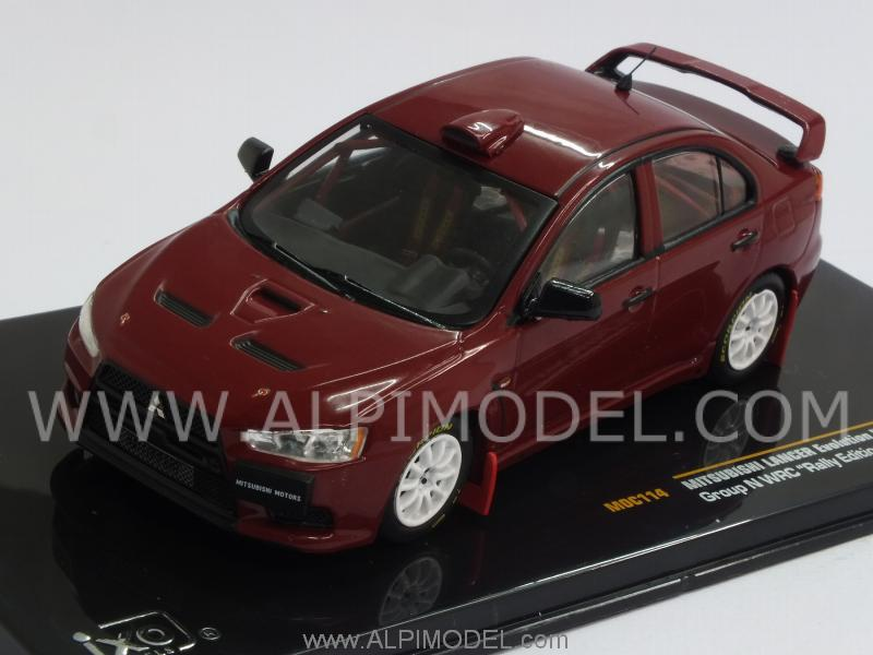 Mitsubishi Lancer Evo X Group N WRC Rally Edition 2007 (Red) by ixo-models