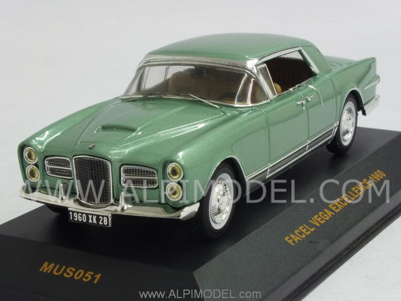 Facel Vega Excellence 1960 (Metallic Green) by ixo-models