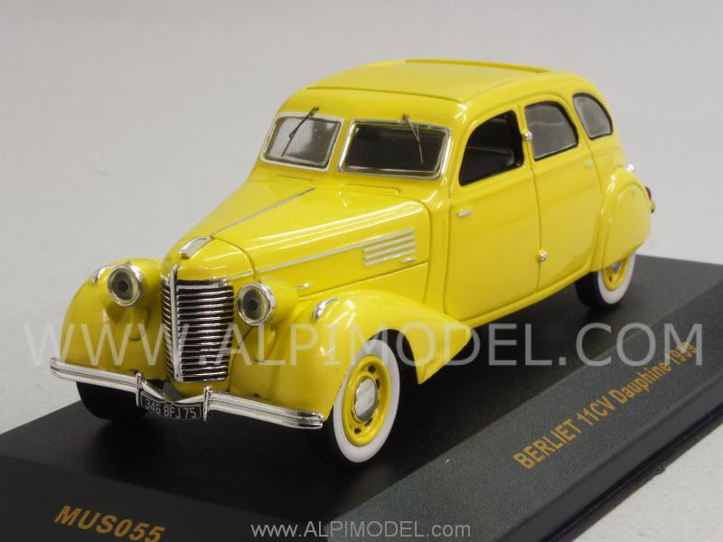 Berliet 11CV Dauphine 1939 (Yellow) by ixo-models
