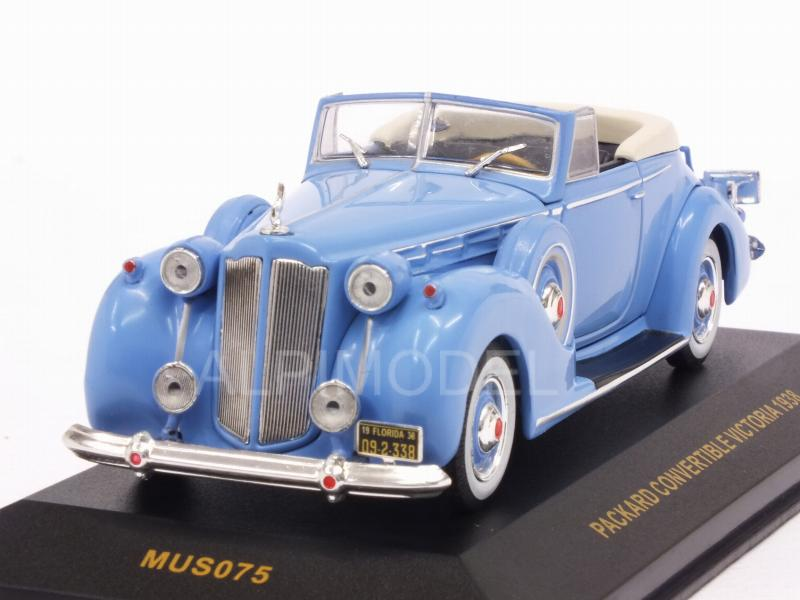 Packard Victoria Convertible 1938 (Blue) by ixo-models