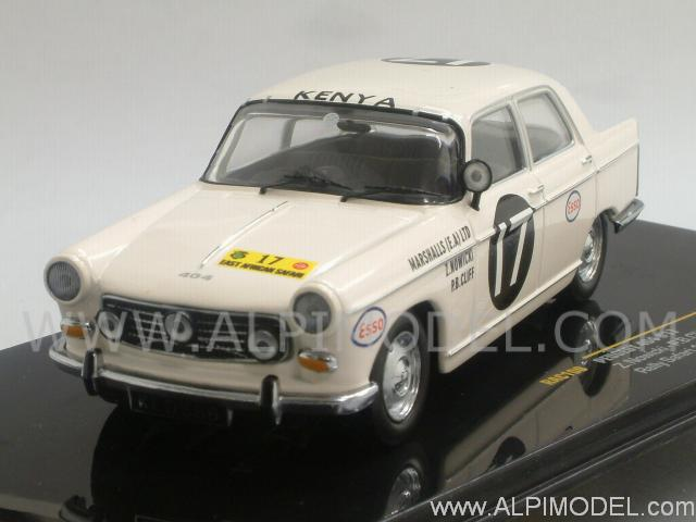 Peugeot 404 #17 N.Abe-N.Nowicky-P.Cliff Winner Rally Safari 1968 by ixo-models