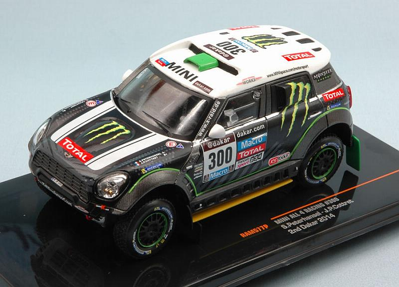 MINI ALL 4 Racing #N300 2nd Rally Dakar 2014 Peterhansel - Cottret by ixo-models