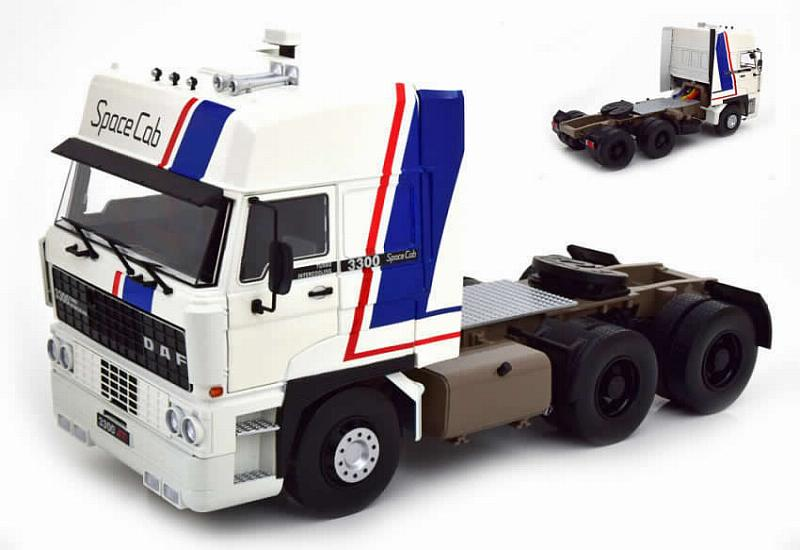 DAF 3300 Spacecab 1982 (White/Blue) by kk-scale-models