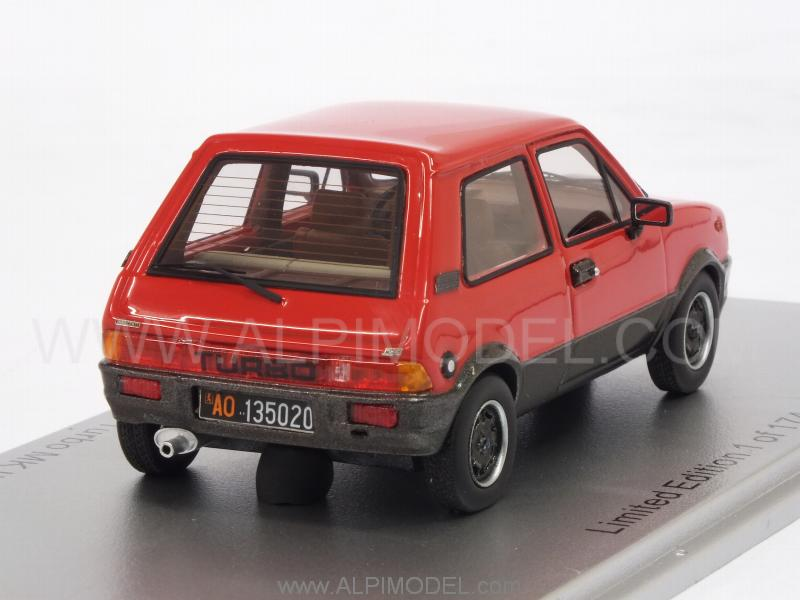 Innocenti Mini De Tomaso Turbo MkII 1983 (Red) - kess