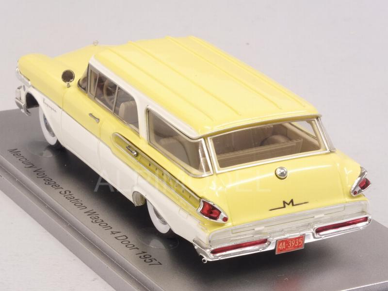 Mercury Voyager Station Wagon 4-Door 1957 /White/Light Yellow) - kess